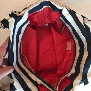 Kate Spade Navy Striped Nylon Stevie Bag